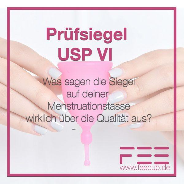 Menstruationstasse aus USP CLASS VI Silikon